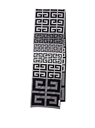 Givenchy Unisex Multi Logo Scarf, Navy/Grey