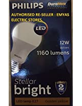 PHILIPS LED LAMP 12W DELIVERS 1160 LUMENS E27 GOLDEN YELLOW / WARM WHITE / 3000K. [PACK OF 2]