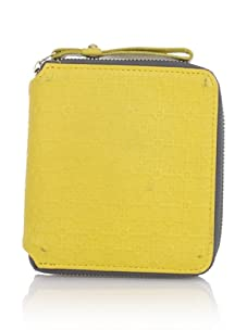 Hlaska Artifacts Women's Embossed Small Zippered Wallet (Yellow)