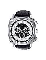 Luxury Ronda Quartz Chronograph Black Leather Band Luxury Men's Wrist Watch