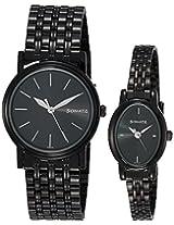 Sonata Black Dial Couple's Watch - 11418100NM01