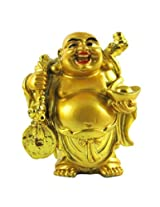 Varanasi Enterprises Feng Shui Laughing Buddha with Ingot for Health, Wealth and Happiness