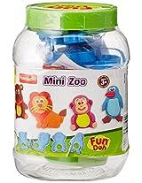 Funskool-Fundoh Mini Zoo, Multi Colour