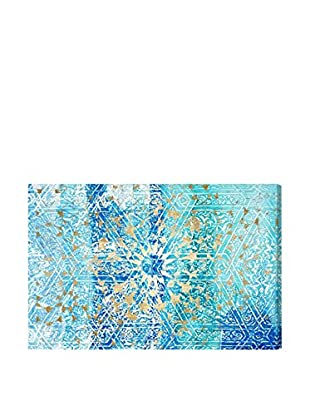 Oliver Gal 'Aqua Geometric Estate' Canvas Art