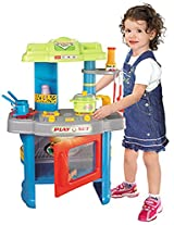 Berry Toys Fun Cooking Plastic Play Kitchen, Blue