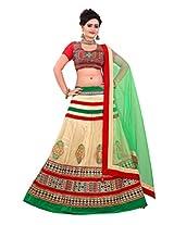 Astha Fashion Net Saree (1098Af _Multi-Coloured)