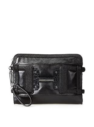 Halston Heritage Women's Leather H Executive Clutch (Black Multi)