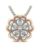 BlueStone Bloom Collection 18k White Gold and Diamond Lada Pendant