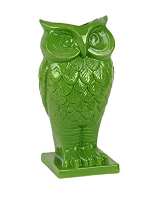 Ceramic Owl Vase, Green