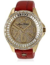 H Ph13576jsg/06 Red/Silver Analog Watch Paris Hilton