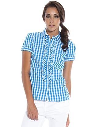 PEDRO DEL HIERRO Camisa Cuadros (turquesa / blanco)