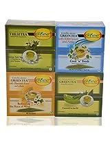 GTEE Tulsi Tea Bags & Green Tea Bags - Regular & Green Tea Bags-Mint & Green Tea Bags-Chamomile (10 Tea Bags X 4 PACKS)