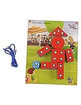 Skillofun Wooden Peg A Puzzle - Footballer