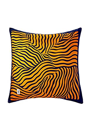 YSL Zebra 1980 Scarf Pillow Navy/Rust