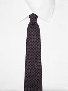 Hermès Men's Diamond Tie (Lavender/Navy)