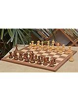Chessbazaar Combo Of Reykjavik Staunton Chess Pieces & Walnut Maple Board