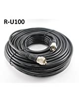100ft Rg8x Coax UHF (Pl259) Male to Male 50 Ohm Antenna Cable