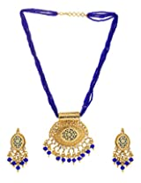 Voylla Blue Thewa Kundan Necklace Set