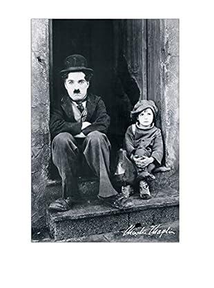 ArtopWeb Panel de Madera Chaplin Tempi Moderni 90x60 cm