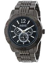 August Steiner Men's AS8058BK Quartz Multi-Function Sport Bracelet Watch