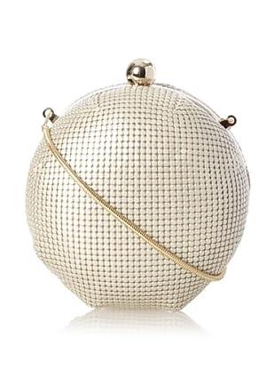 Whiting & Davis Women's Mesh Globe Convertible Clutch, Pearl