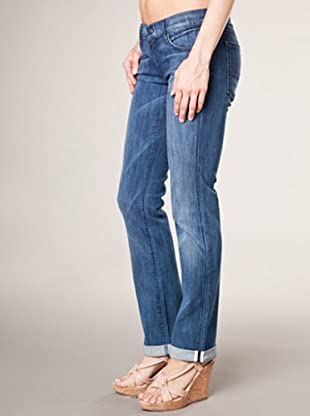 7 for all Mankind 5-Pocket Jeans Shimm Adara Night Straight Leg (dunkelblau denim)