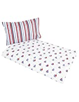 JoJo Maman Bebe Printed Cot Bed Duvet Set, Nautical