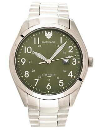 Swiss Eagle Reloj Field Scout verde
