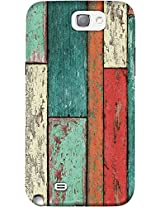 DailyObjects Cubic Wood Vertical Case For Samsung Galaxy Note 2 (Back Cover)