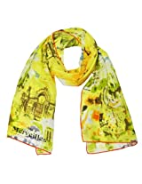 Wrapables Luxurious 100% Charmeuse Silk Long Scarf with Hand Rolled Edges, French Sights