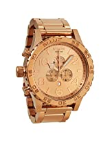 Nixon 51-30 Chronograph Rose Gold-Tone Stainless Steel Men's Watch - Nxa083897
