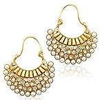 Adiva Pearl Hoop Earring For Women White - VS46
