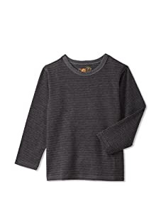 Soft Clothing for Children Boy's Remy Long Sleeve Tee (Charcoal)