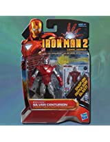 Iron Man 2 Comic Series 4 Inch Action Figure #34 Silver Centurion Iron Man