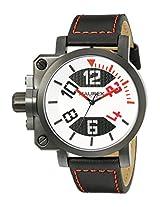 Haurex Italy Men's 6A508URN Gun Analog Display Quartz Black Watch