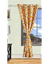 """Swayam Premium Printed Sigma Faux Silk Blackout Door Curtain with Eyelets - 48"""" x 90 """" - Multicolor"""
