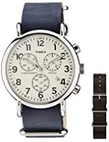 Timex Weekender Chrono Oversized Analog Off-White Dial Unisex Watch - TW2P621006S