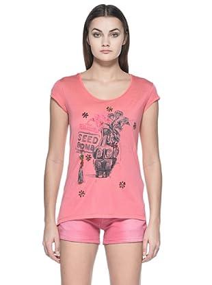 Zu Element Camiseta Wall Flowers (Coral)