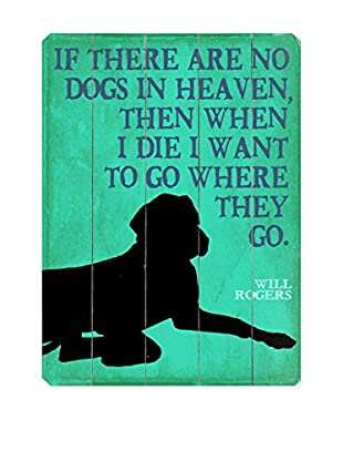 Artehouse No Dogs In Heaven Wood Wall Décor (Green/Black)
