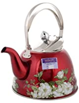 BeauT Steel Kettle with stainer, 1.5 Ltr - Red Colour