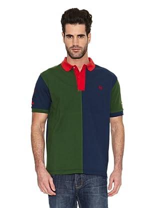 Toro Polo Bicolor Número 1 (Azul Marino / Verde)