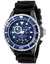 Nautica Men's N32600G NMX 650 Tide Analog Display Japanese Quartz Black Watch