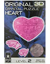 3D Crystal Puzzle - Pink Heart