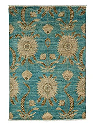 Darya Rugs Fine Modern Oriental Rug, Light Blue, 3' 10