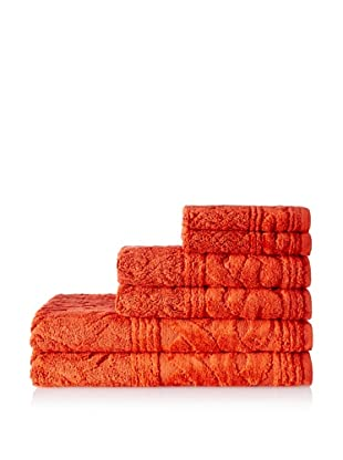 Espalma 6-Piece Chainlinks Towel Set, Paprika