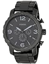 Fossil Nate Chronograph Analog Black Dial Men's Watch - JR1401