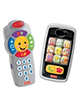 Fisher-Price Laugh & Learn Remote and Smilin' Smartphone Bundle