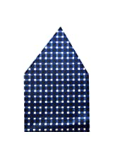 Navaksha Nevy Blue Square Design Pocket Square