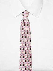 Emilio Pucci Men's Grid Tie, Purple/Pink