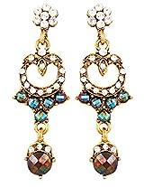 Beautiful earrings with white n sea green stones